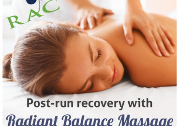 Post-run recovery with Radiant Balance Massage